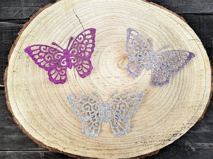 Dekorace na dárek - sada motýlů 2