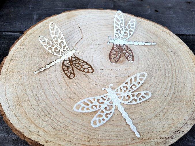 Dekorace na dárek - sada vážky