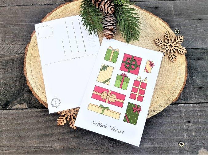 Vánoční pohlednice - Dárečky