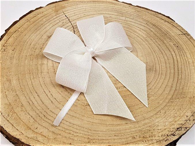 Mašle - bílá třpytivá