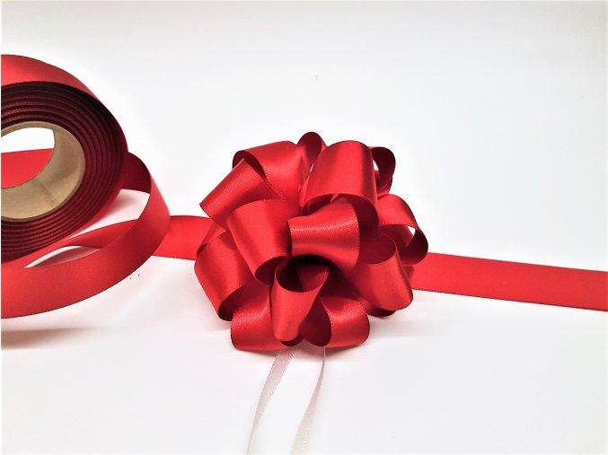 Mašle na dárek - kokarda - červená