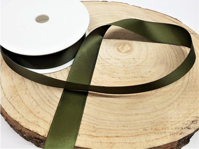 Saténová stuha - zelená