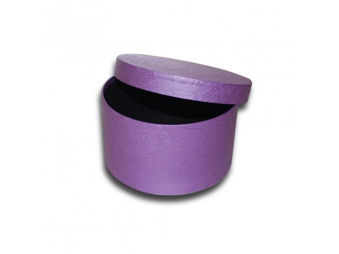 darkova krabicka fialova kulata luxusni na darek velikost 8 cm x Ø 15,5 cm