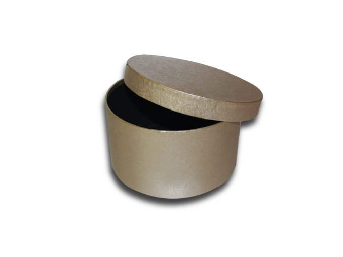 darkova krabicka zlata kulata luxusni na darek velikost 8 cm x Ø 15,5 cm