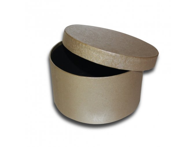 darkova krabicka zlata kulata luxusni na darek velikost v 9 cm x Ø 17 cm