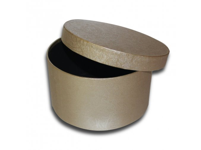 darkova krabicka zlata kulata luxusni na darek velikost v 10,5 x Ø 18,5 cm