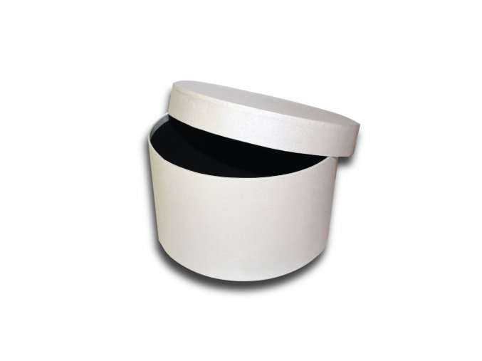 darkova krabicka bila kulata luxusni na darek velikost 11,5 x Ø 20 cm