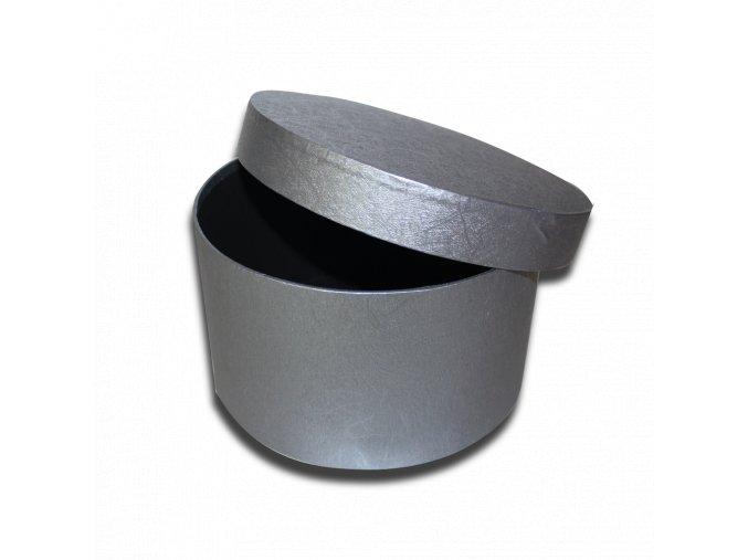 darkova krabicka seda kulata luxusni na darek velikost 12,5 X Ø 21,5 CM