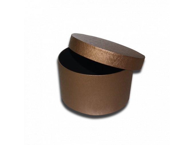 darkova krabicka bronzova kulata luxusni na darek velikost 11,5 X Ø 20 CM