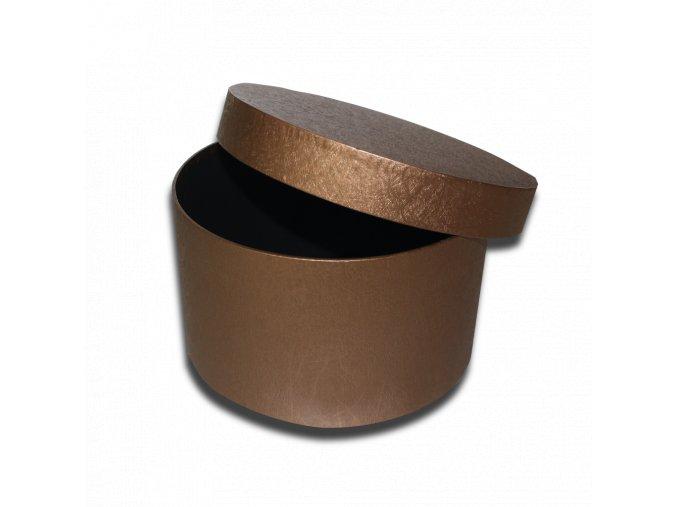 darkova krabicka bronzova kulata luxusni na darek velikost 12,5 X Ø 21,5 CM