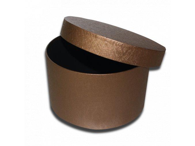 darkova krabicka bronzova kulata luxusni na darek velikost 13,5 X Ø 23 CM