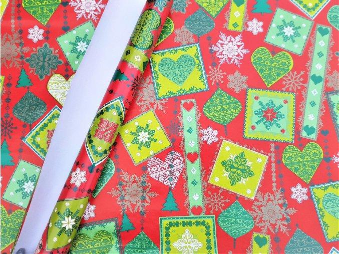 Balicí papír - role - Vánoční