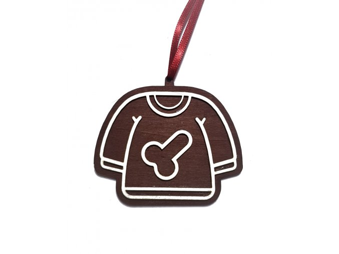 dekorace pernicek vanocni ozdoba triko