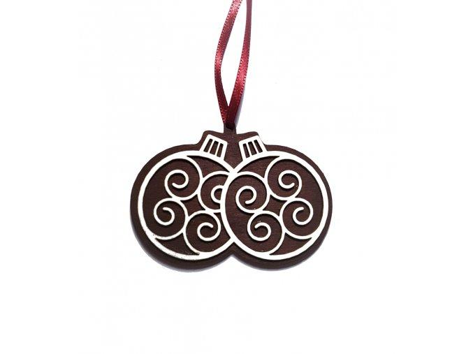 dekorace pernicek vanocni ozdoba dve koule