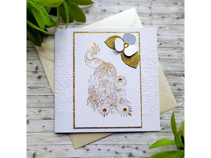 Přání, zlatý páv