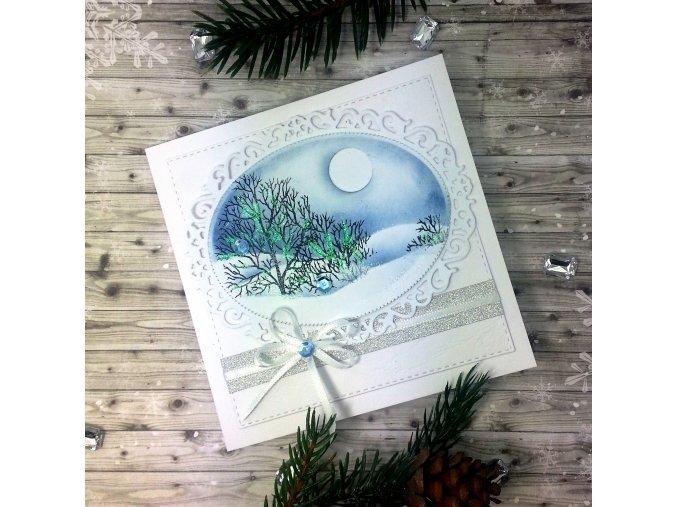 Vánoční přání, zimní krajina