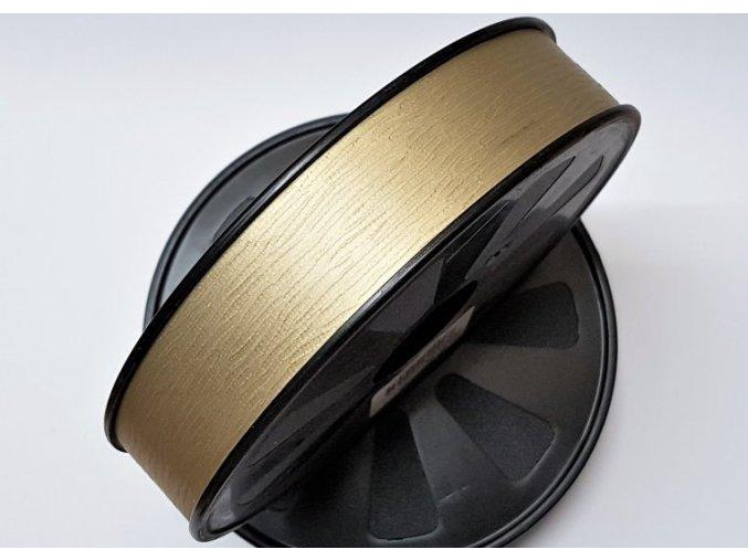 Plastová stuha - Zlatá - matná