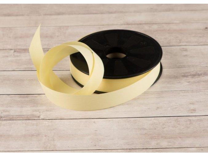 Plastová stuha - žlutá - matná