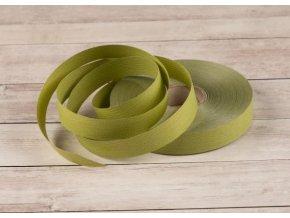 Plastová stuha - olivová - matná