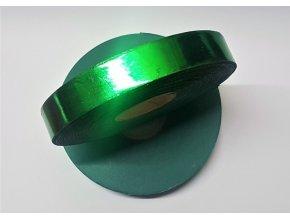 Plastová stuha - zelená - lesklá
