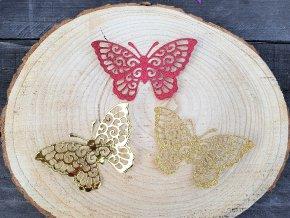 Dekorace na dárek - sada motýlů 3