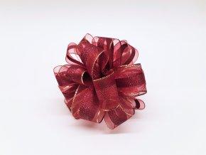 Mašle - kokarda - červená Vánoční