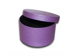 darkova krabicka fialova kulata luxusni na darek velikost v 9 cm x Ø 17 cm