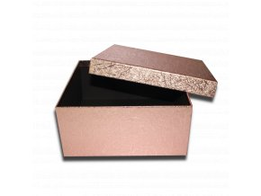 darkova krabicka bronzova ctverec luxusni na darek 22,5 x 22,5 x 10,5 cm