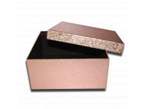 darkova krabicka bronzova ctverec luxusni na darek 25 x 25 x 11,5 cm
