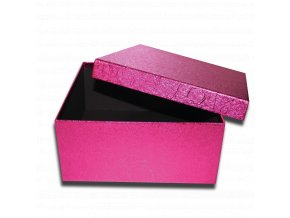 darkova krabicka fialova ruzova ctverec luxusni na darek 25 x 25 x 11,5 cm
