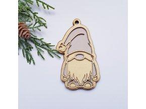 skritek gnome vanocni na stromecek na darek