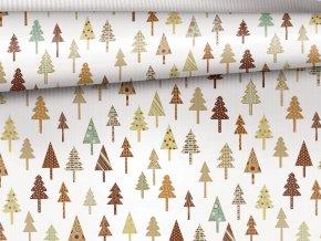 vanocni balici papir stromky les
