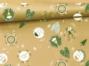 vanocni balici papir prirodni