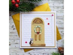 Vánoční přání, vánoční dveře