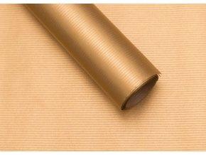 Balící papír natur zlatý