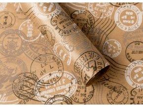 Balící papír přírodní s razítky