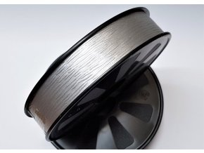 Plastová stuha - stříbrná - matná