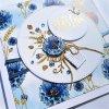 Narozeninové přání - Modré květy
