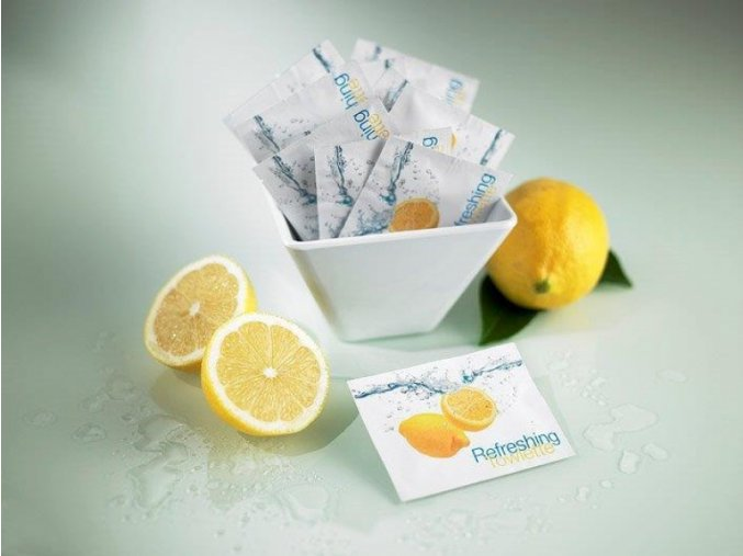 Osvěžující ubrousky - s citronovou vůní