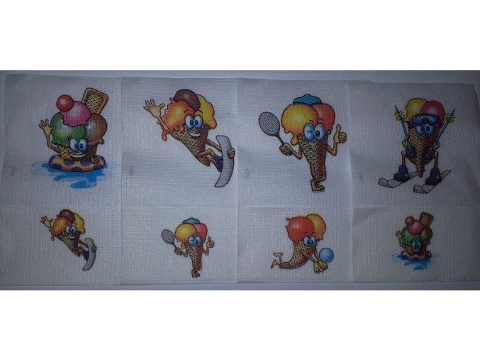 Zmrzlinové ubrousky 17 x 17 cm