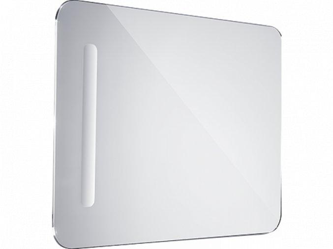 Koupelnové podsvícené LED zrcadlo - oblé hrany - zleva