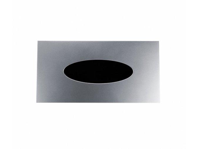Zásobník na papírové kapesníčky, stříbrná matná