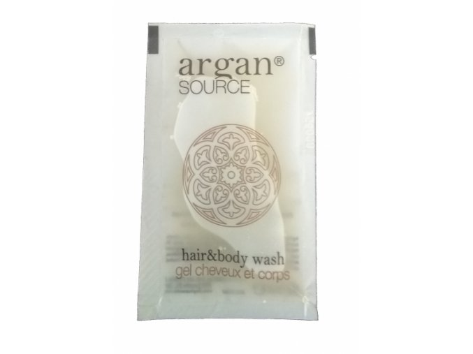 Vlasový a tělový šampon v sáčku 10 ml Argan Source