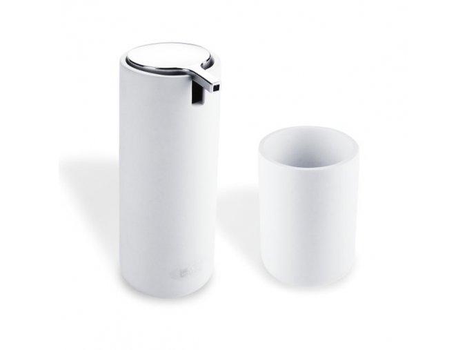 Dávkovač na tekuté mýdlo s pohárkem - tubus