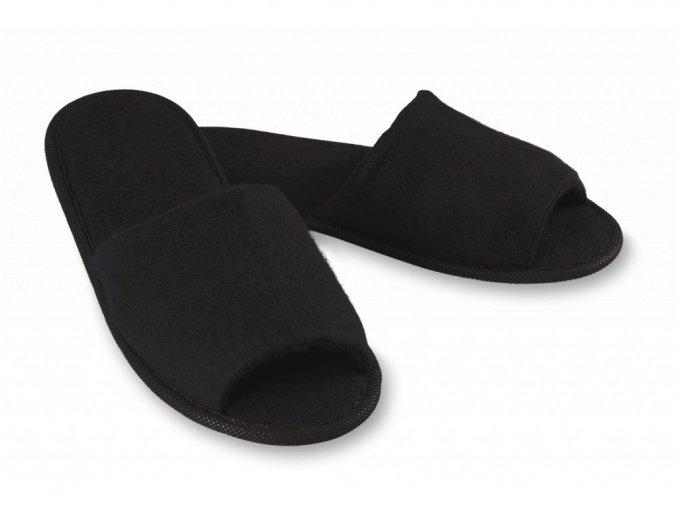 pantofle soft cerna otevrena