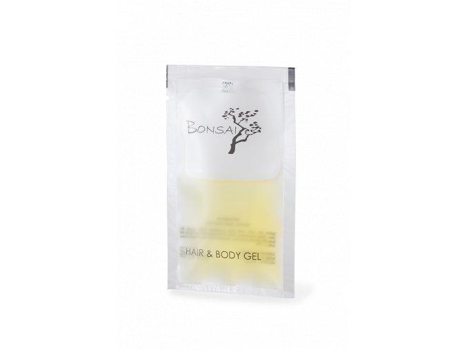 Jednorázový vlasový a tělový šampon v sáčku 10 ml Bonsai