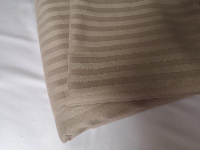 Exclusive set povlak na polštář a peřinu hnědo zlatá