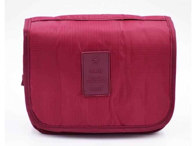 Kosmetická taška bordová