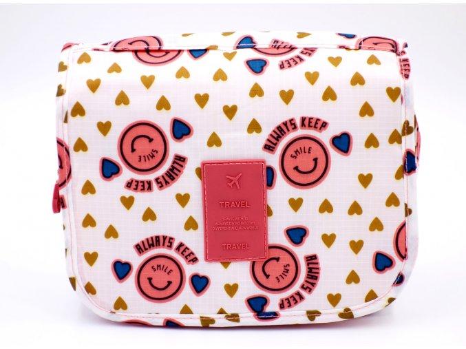 Kosmetická taška dětská růžová