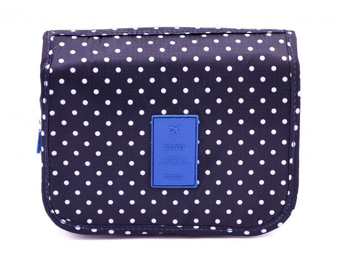 kosmeticka taska modry puntik